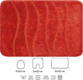 Набор из 3 ковриков для ванной и туалета оранжевый Grund ALABARDIA 2035.93.051
