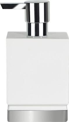 Ёмкость для жидкого мыла керамическая, белый/серебро Spirella ROMA 1017969
