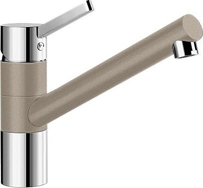 Смеситель однорычажный с высоким изливом для кухонной мойки, хром / серый беж Blanco TIVO 517609