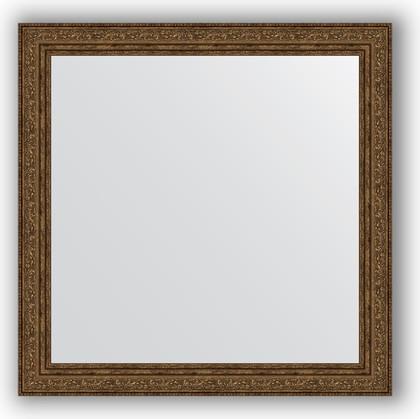 Зеркало в багетной раме 64x64см виньетка состаренная бронза 56мм Evoform BY 3137