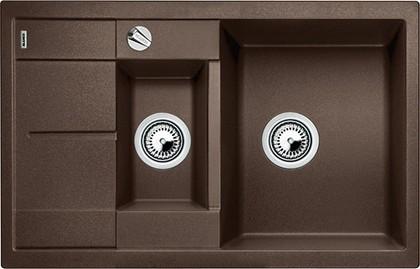 Кухонная мойка оборачиваемая с крылом, с клапаном-автоматом, гранит, кофе Blanco METRA 6 S COMPACT 515044