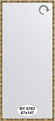 Зеркало 67x147см в багетной раме золото-бамбук Evoform BY 0763