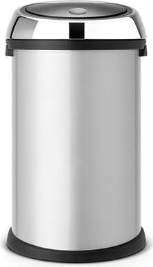 Ведро для мусора 50л серый металлик Brabantia TOUCH BIN 243721