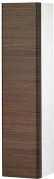 Высокий шкаф с корзиной для белья, петли слева, белый/грецкий орех Keuco ELEGANCE 31631386801