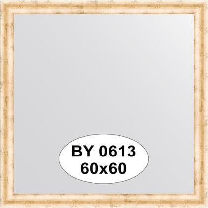 Зеркало 60x60см в багетной раме красная бронза Evoform BY 0613