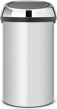 Ведро для мусора 60л цвета серый металлик Brabantia TOUCH BIN 402425