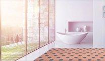 Коврик для ванной 60x100см розовый с серебряным люрексом Grund BINDU 3617.16.291