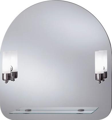 Зеркало 70x73см со встроенными светильниками-бра и стеклянной полочкой Dubiel Vitrum GAJA 5905241900735