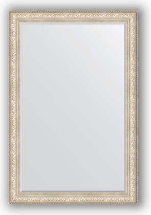 Зеркало с фацетом в багетной раме 120x180см виньетка серебро 109мм Evoform BY 3634