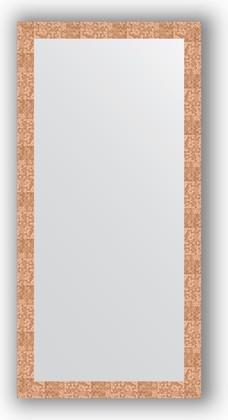 Зеркало в багетной раме 76x156см соты медь 70мм Evoform BY 3338