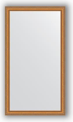 Зеркало в багетной раме 75x135см золотые бусы на бронзе 60мм Evoform BY 3298