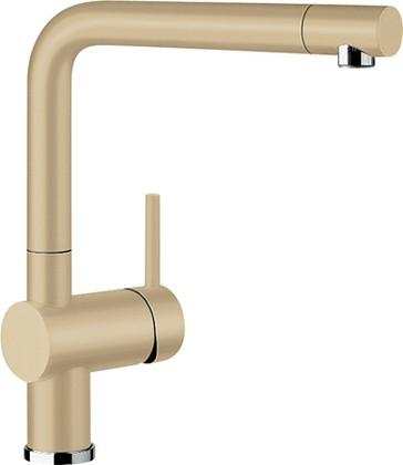 Смеситель кухонный однорычажный с высоким выдвижным изливом, SILGRANIT шампань Blanco LINUS-S 516694