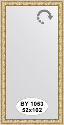 Зеркало 52x102см в багетной раме сусальное золото Evoform BY 1053