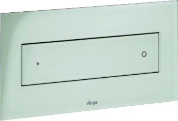 Кнопка смыва для унитаза, прозрачное стекло цвета зелёной мяты Viega Visign for Style 12 687878