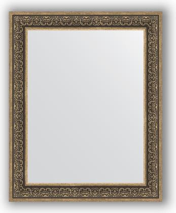 Зеркало в багетной раме 83x103см вензель серебряный 101мм Evoform BY 3288