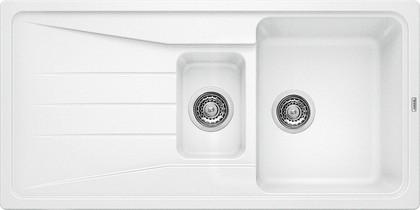Кухонная мойка оборачиваемая с крылом, гранит, белый Blanco SONA 6 S 519855