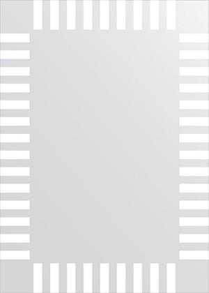 Зеркало для ванной с орнаментом 50x70см FBS CZ 0732