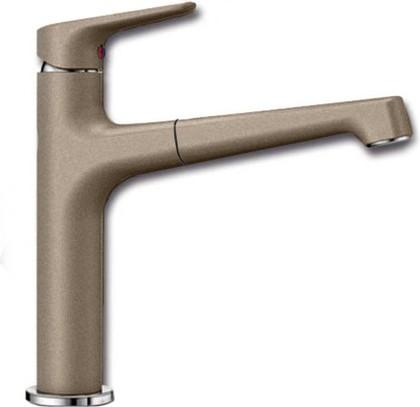Смеситель кухонный однорычажный с высоким выдвижным изливом, серый беж Blanco FELISA-S 520344