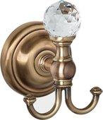Крючок, бронза с кристаллом swarovski TW Crystal TWCR016br-sw