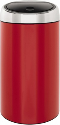 Ведро для мусора 45л красное Brabantia TOUCH BIN 424649