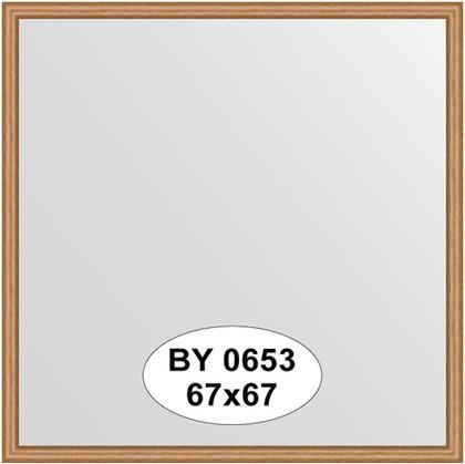 Зеркало 67x67см в багетной раме вишня Evoform BY 0653