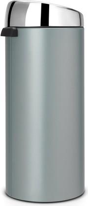 Мусорный бак с педалью 30л зелёный (мята) Brabantia TOUCH BIN 484285