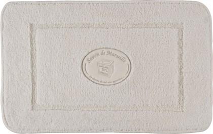 Коврик для ванной комнаты хлопковый 50x80см светло-бежевый Spirella SAVON DE MARSEILLE 4006091