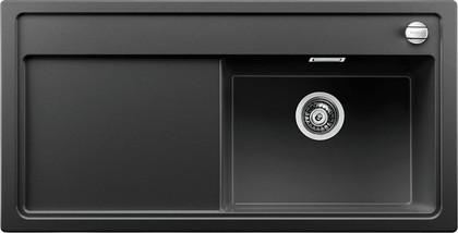 Кухонная мойка чаша справа, крыло слева, с клапаном-автоматом, гранит, антрацит Blanco ZENAR XL 6 S 519271
