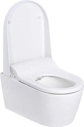 Подвесной белый унитаз-биде без фена, с дистанционным Geberit AquaClean Sela 146.145.11.1