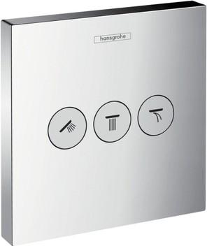 Переключатель для душа для 3 потребителей, хром Hansgrohe ShowerSelect 15764000