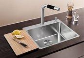 Кухонная мойка без крыла, с клапаном-автоматом, нержавеющая сталь полированная Blanco ANDANO 500-IF/A 519556