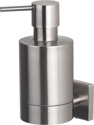 Ёмкость для жидкого мыла стальная матовая с креплением Spirella NYO 1015578