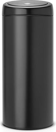 Мусорный бак 30л чёрный матовый Brabantia TOUCH BIN 391743