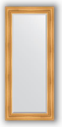 Зеркало с фацетом в багетной раме 69x159см травленое золото 99мм Evoform BY 3574