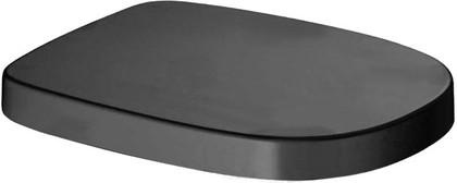 Сиденье для унитаза с крышкой, микролифт, чёрное Laufen MIMO 8.9255.1.317.000.1