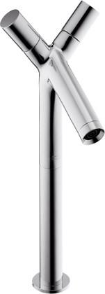 Смеситель для отдельностоящей раковины вентильный с донным клапаном, хром Hansgrohe AXOR Starck 10050000
