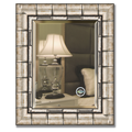 Зеркало 43x53см с фацетом 30мм в багетной раме старый бамбук Evoform BY 1358