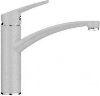 Компактный однорычажный смеситель с высоким изливом для кухонной мойки, жемчужный Blanco NEA 520749