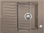 Кухонная мойка оборачиваемая с крылом и решеткой, серый беж BLANCO ELON 45S 520996
