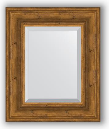 Зеркало с фацетом в багетной раме 49x59см травленая бронза 99мм Evoform BY 3368