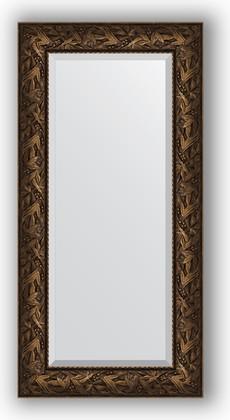Зеркало с фацетом в багетной раме 59x119см византия бронза 99мм Evoform BY 3495