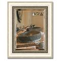 Зеркало 44x54см с фацетом 30мм в багетной раме старое серебро с плетением Evoform BY 1354