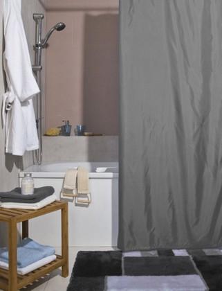 Штора для ванной комнаты 180x200см текстильная, антрацит Spirella ATLAS 4005707