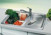 Кухонная мойка чаша слева, крыло справа, нержавеющая сталь зеркальной полировки Blanco CLASSIC 4 S 507702