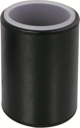 Стакан настольный круглый, матовое акриловое стекло / чёрная экокожа Colombo Black&White B9231.EPN