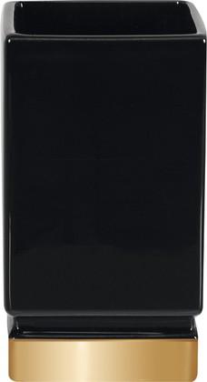 Стакан керамический, чёрный/золото Spirella ROMA 1017980