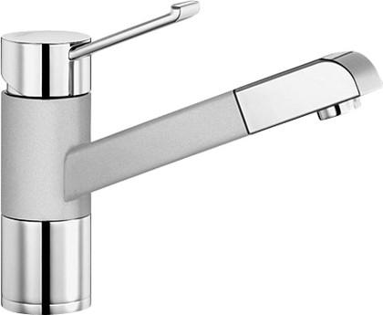 Смеситель кухонный однорычажный с выдвижным изливом, хром / жемчужный Blanco ZENOS-S 520760