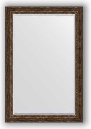 Зеркало с фацетом в багетной раме 122x182см состаренное дерево с орнаментом 120мм Evoform BY 3638