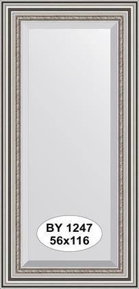 Зеркало 56x116см с фацетом 30мм в багетной раме римское серебро Evoform BY 1247