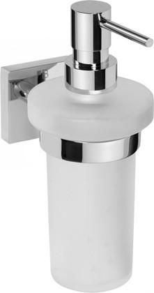 Дозатор жидкого мыла настенный стекло/хром 230мл Bemeta 132109017